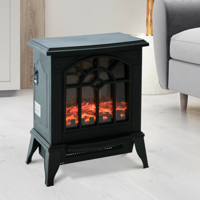 Akdy 16 Retro Floor Freestanding Vintage Electric Stove Heater Fireplace For Sale Online Ebay