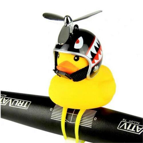 Handlebar Bell Propeller Helmet Small Yellow Duck Bike Horn Bell LED Light