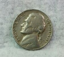 1953 P Jefferson Nickel, Circulated, Nice Coin, Mintage of 46.7 Mil, Free Ship