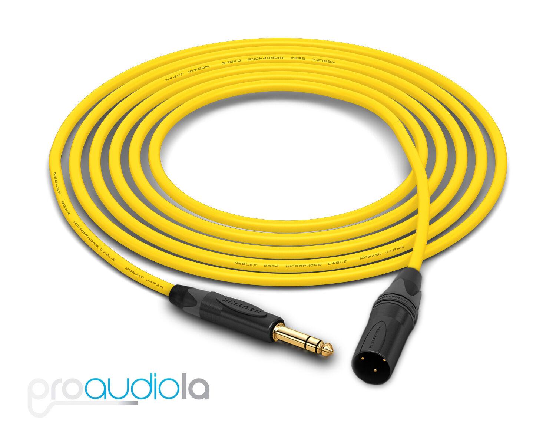 Mogami Cuádruple 2534 Cable Neutrik Dorado Trs XLR-M Gelb 76.2m 76.2m 76.2m
