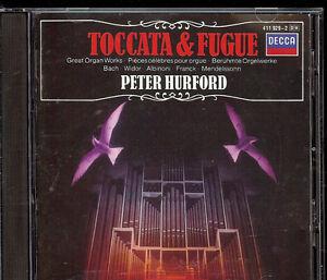 Various-German-1984-Toccata-amp-Fugue-Great-Organ-Works-Peter-Hurford-CD