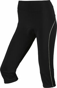 Nakamura Damen-rad-fahrradhose-bike-hose Caprihose 3/4 Tight Nala Ii Schwarz Clothing, Shoes & Accessories