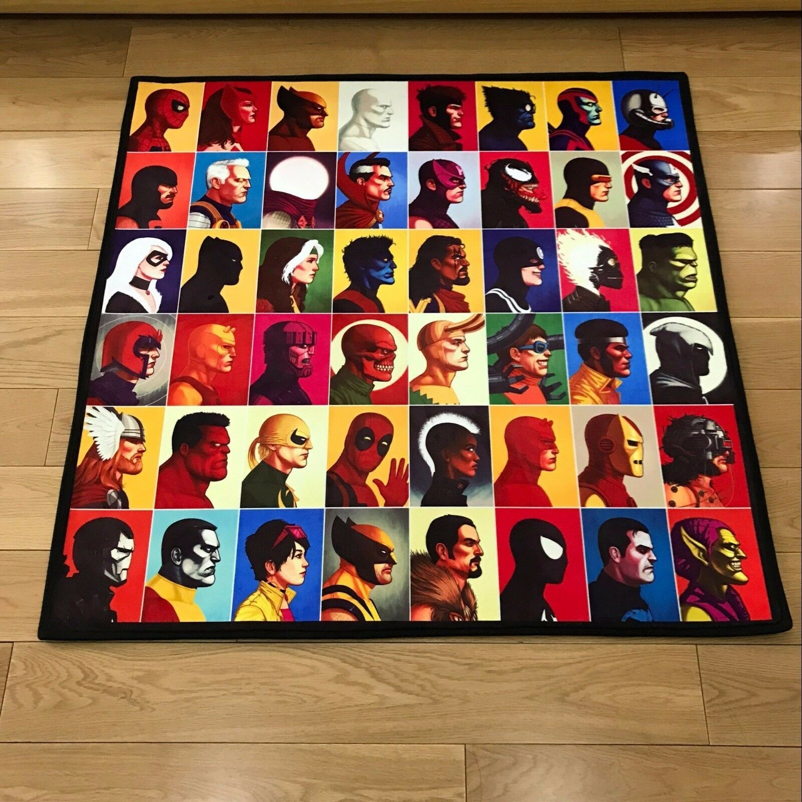 Marvel Comics Square Cool Velboa Floor Rug Carpet Room Doormat Non-slip Mat  24
