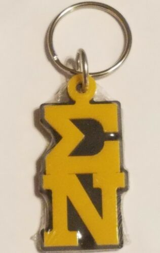 Sigma Nu Keychain Key Ring Letters Key Chain