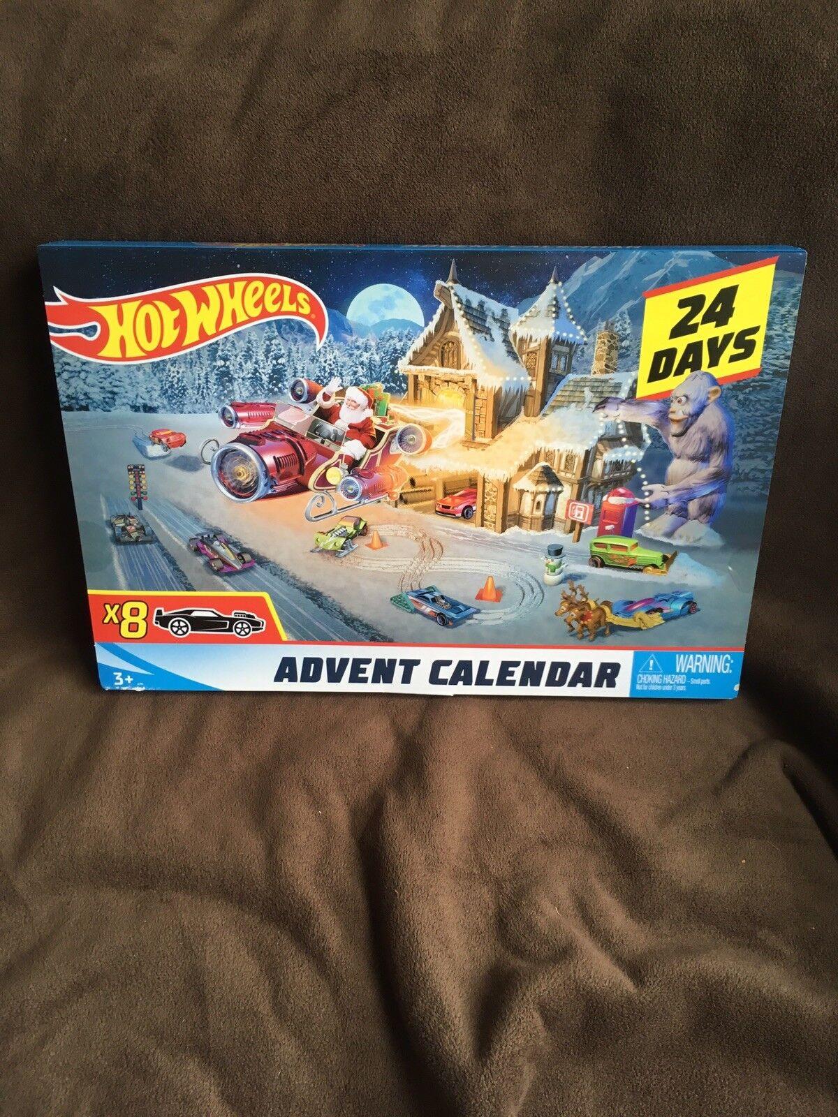 Hot Wheels Wheels Wheels Advent Calendar 2018 New 84be79