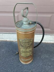 Vintage Antique General Quick Aid Fire Guard Extinguisher Pump Copper Model A704