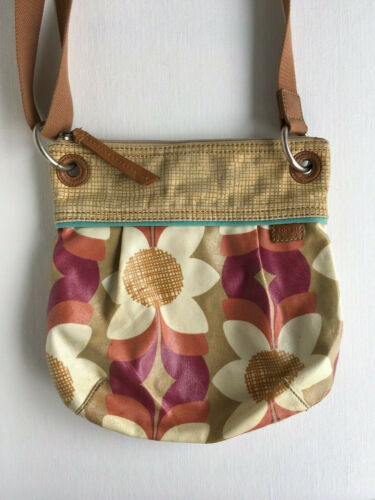 Fossil Key-Per Floral Coated Canvas Crossbody Bag