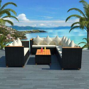 vidaXL-Garden-Sofa-Set-27-Piece-Wicker-Poly-Rattan-Black-WPC-Outdoor-Furniture