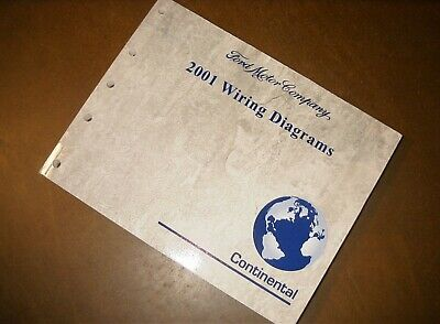 2001 Ford Lincoln Continental Wiring Diagrams Manual   eBay