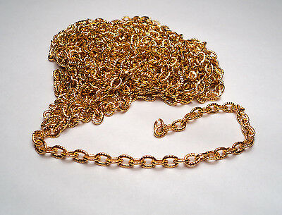10 FT. GOLD TONE ALUMINUM KNURLED CABLE LINK CHAIN-M274