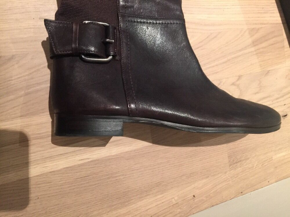 Attimo Attimo Attimo braun Leather Knee High Stiefel New Größe 41 65200a
