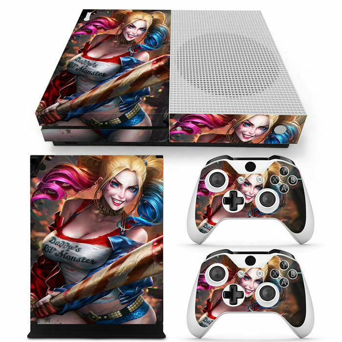 Xbox one S Console Controllers Vinyl Skin Sticker Set-Harley Quinn Suicide Squad