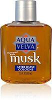 4 Pack - Aqua Velva Musk After Shave Cologne 3.50 Oz Each on sale