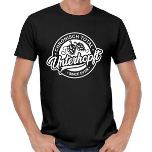 Unterhopft-Bier-Party-Oktoberfest-Spruch-Comedy-Spass-Fun-Lustig-Festival-T-Shirt