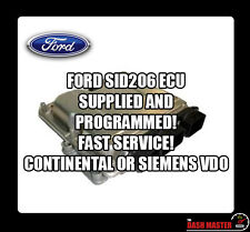 FORD SID 206 SID206 ECU SUPPLIED AND PROGRAMMED FREE MONDEO GALAXY FOCUS FIESTA