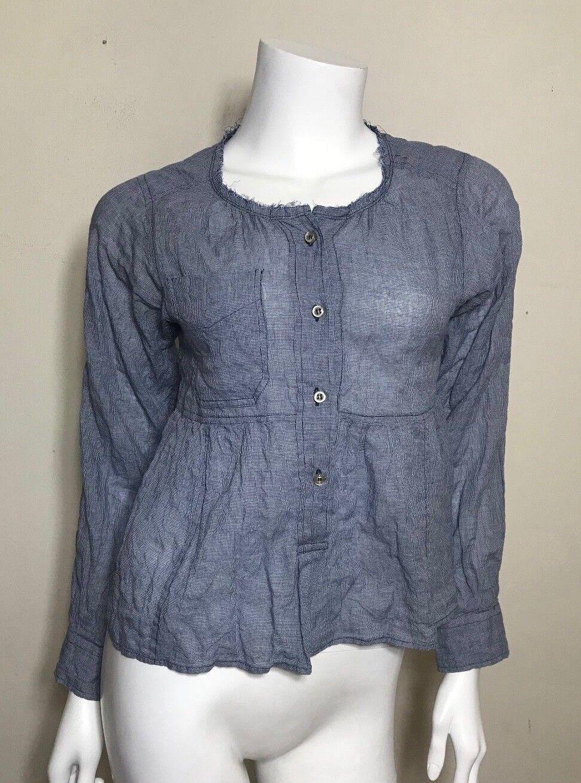 Isabel Marant Etoile Cotton Tiny Checks Shirt in Blau Größe 0 XS