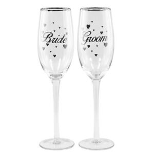 Image Is Loading Wedding Day Toasting Bride Groom Champagne Flutes Mr