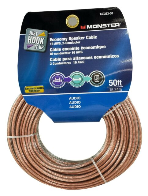 Best Speaker Wire >> Monster Cable Economy Audio Speaker Wire 16 Gauge 50 Ft