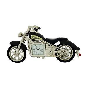 Miniature-Black-Indian-Style-Motorbike-Novelty-Collectors-Clock-9497B
