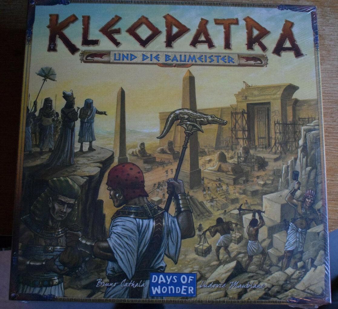 Kleopatra und die Baumeister- Bruno Cathala-Brettspiel Neu Days of Wonder Spiel