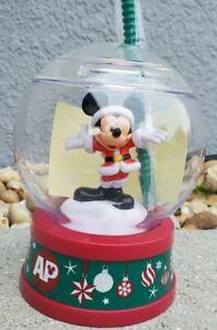 Disney Parks Christmas Santa Mickey 2020 Passholder AP Snow Globe Sipper Cup