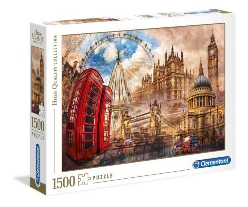 Clementoni Vintage London Haute Qualité Jigsaw Puzzle 1500 pièces