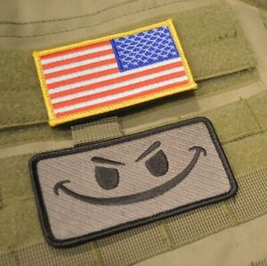 Details about KANDAHAR WHACKER MILTARY ACU BDU OIF OEF ODA CTU US FLAG  reversed + Evil Grin