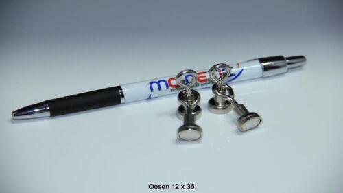 4 Stück Neodym Ösenmagnete Magnet Ösen Suchmagnet 12 mm vernickelt sehr stark