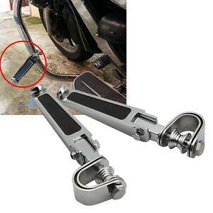 "1.25 /""Black U-Clamp Footpeg For Harley 1200 Nightster Super Glide Sportster Xl R"