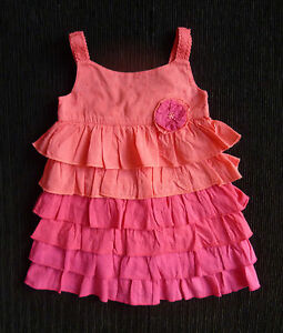 Baby Clothes Girl 6 12m 23cmx42cm Monsoon Bright Pink Frill Cotton