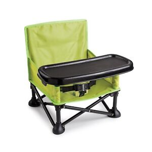 Summer-Infant-Pop-and-Sit-Portable-Booster-Green-Grey