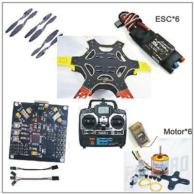 F550 Drone FlameWheel Kit+KK 2.3 HY ESC Motor CF Pros + RadioLink 6CH TX RX