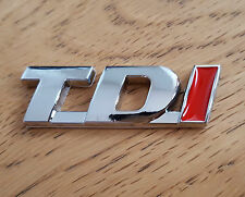 Red/Silver Chrome Metal 3D TDi Emblem Badge for Toyota HiLux Rav4 iQ Prius Verso