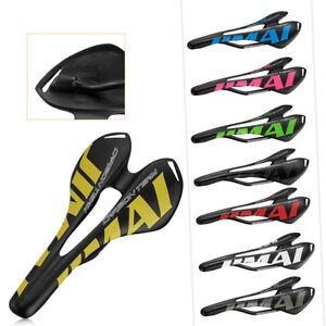 Details about  /Bicycle Carbon fiber Saddle Mountain MTB Road Bike Oval Rail Cushion Seat Pad