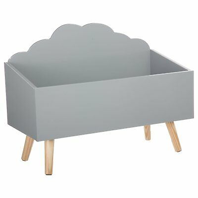 Coffre à jouets - coffre rangement en bois Forme Nuage Atmosphera for kids