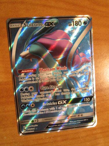 NM FULL ART Pokemon SUICUNE GX Card LOST THUNDER Set 200//214 Sun Moon Ultra Rare