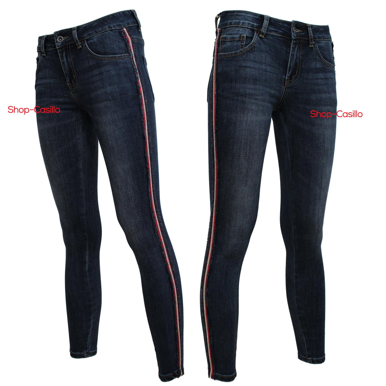 Jeans women Elastico Vita Bassa Pantaloni Stretti Skinny Aderenti Con Frange Top