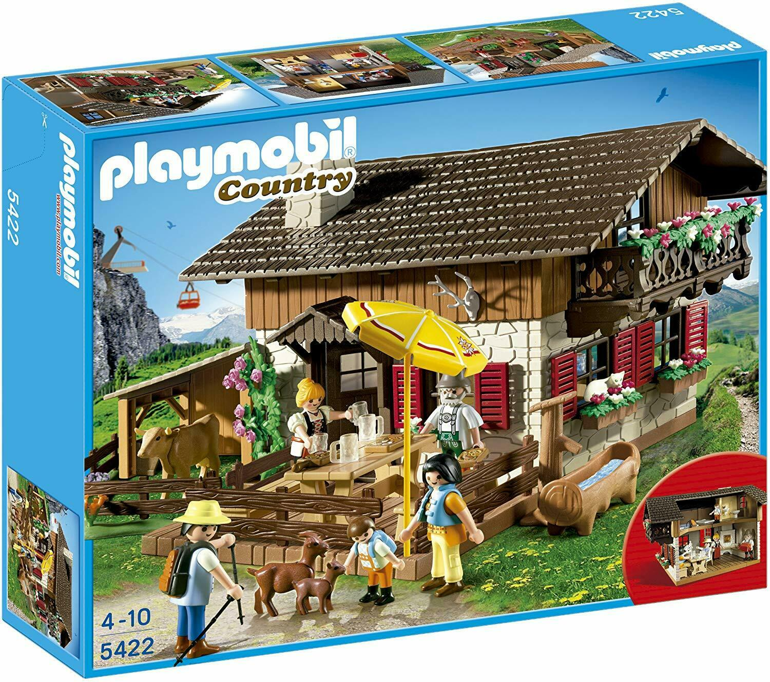 Playmobil 5422 Country Alpine Mountain Lodge Figures Accessories Role Play