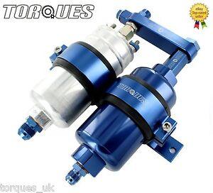 Bosch-044-Fuel-Pump-And-Billet-High-Flow-Fuel-Filter-Assembly-In-BLUE-AN6-AN8