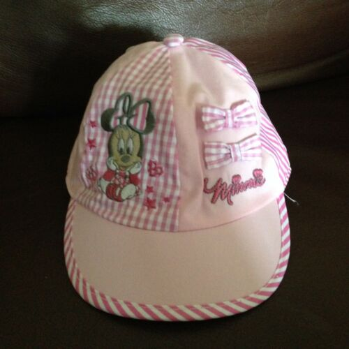 COTTON GIRLS MINNIE MOUSE CAP RED WHITE PINK GINGHAM BOWS 1-2YRS,2-4YRS £5.99
