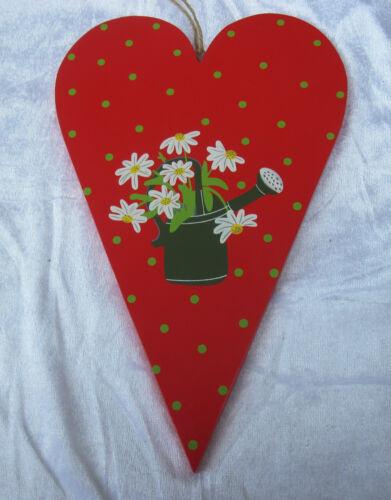 Holzschild Herz  Willkommen Schmetterling Blüte Landhaus Shabby Neu