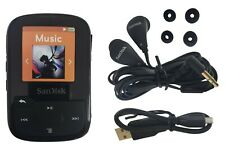 SanDisk Clip Sport Plus 16GB MP3 Player FM Radio Bluetooth Water-Resistant Black