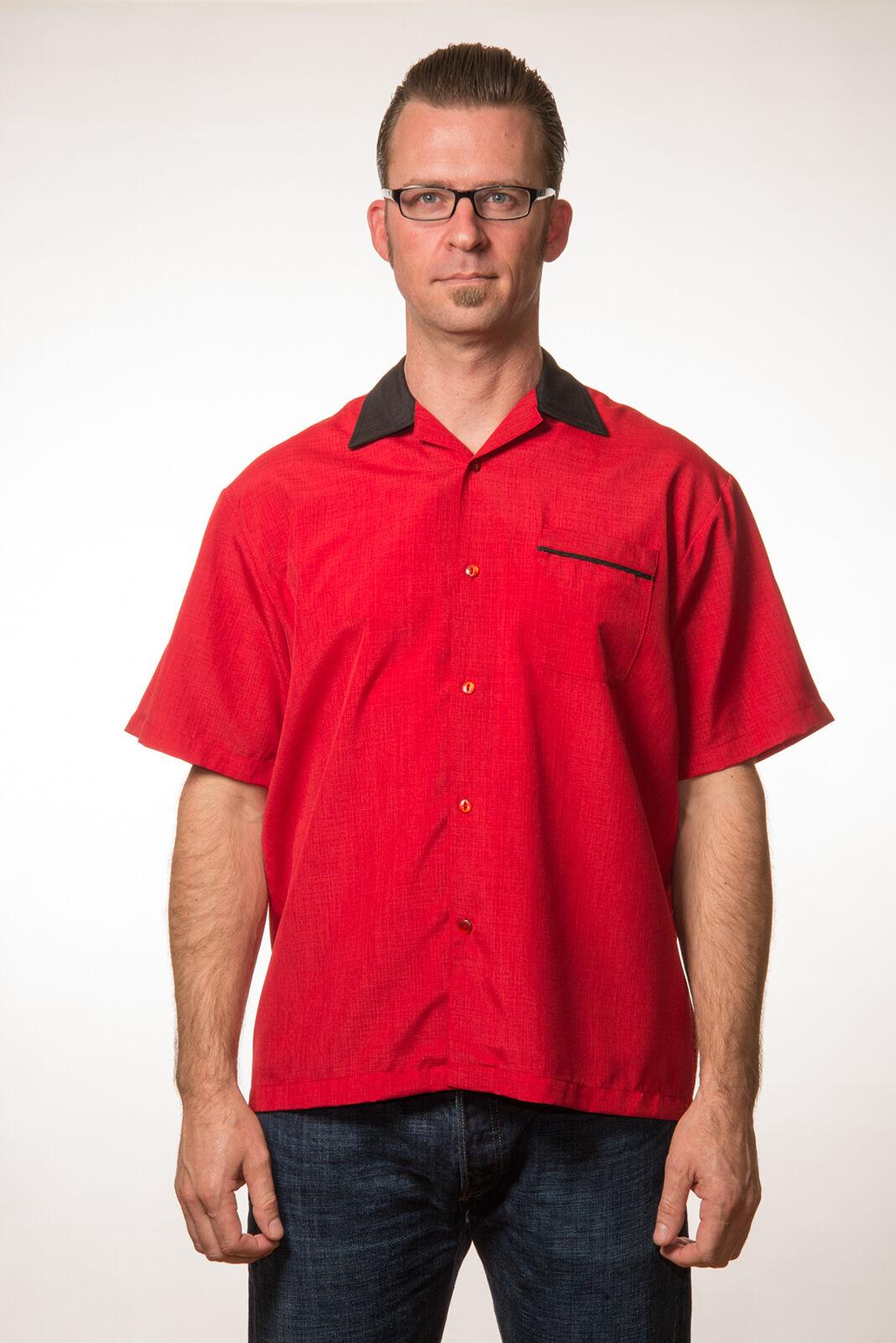 Rockabilly Rockabilly Rockabilly Camicia Da Uomo Retro Camicia S M XL Camicia Da Bowling Rock Steady 50s Stile 49933c