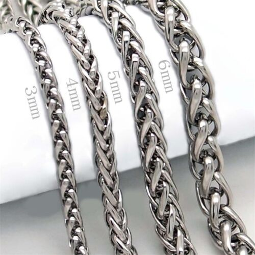 Edelstahl Armband gezopft verschiedene Stärken-Länge je 22cm unisex 316L EA1