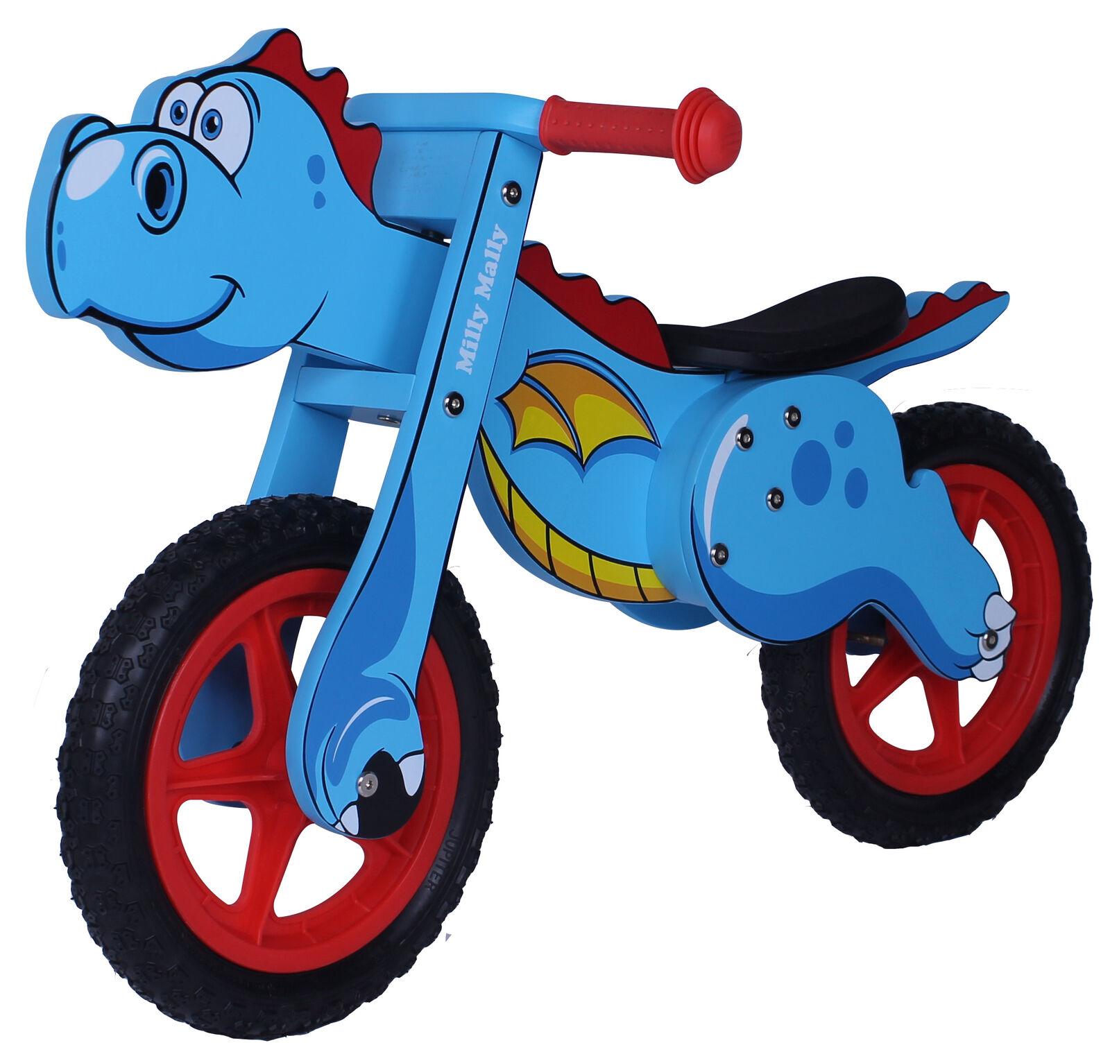 Laufrad DINO BLAU Lernrad Kinderlaufrrad Lernlaufrad Holzlaufrad Kinderfahrrad