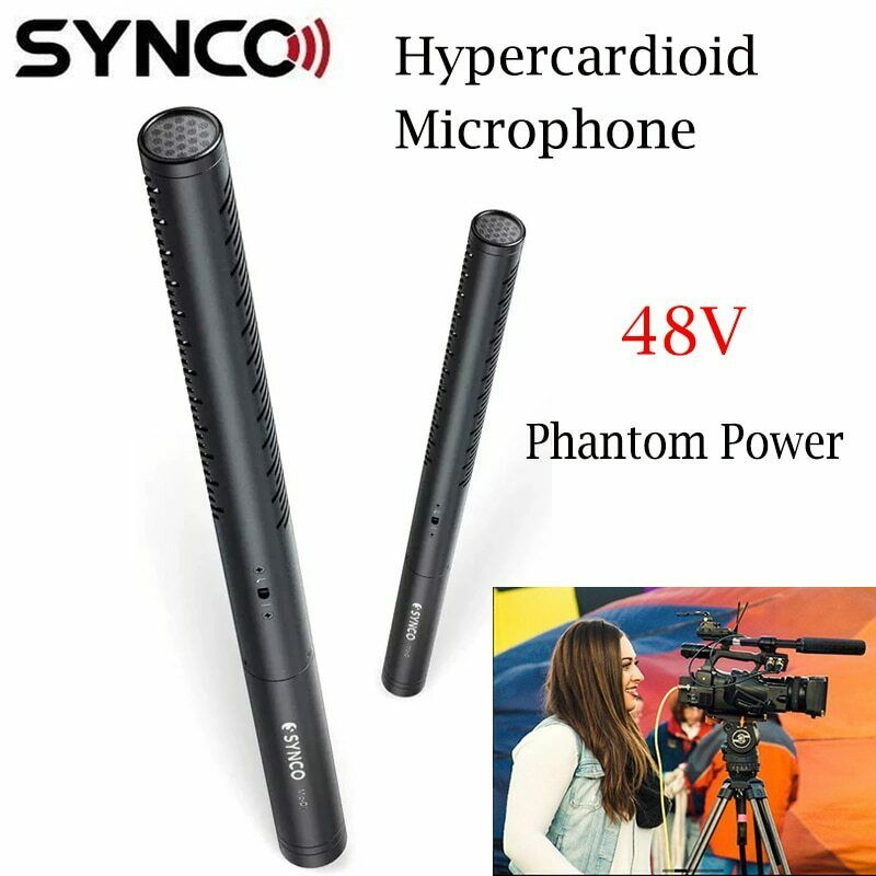 Synco Mic-D1 Low Noise Hyper-cardioid Shotgun Microphone For Broadcast Interview