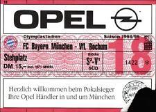 Ticket BL 98/99 FC Bayern München - VfL Bochum