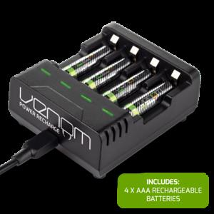 Venom Intelligent Charging Station plus 4 x AAA 800mAh Rechargeable Batteries