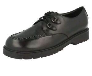 Jo Bootleg Girls Tamaño Unido g negro Purley escuela 3 Nuevos Reino del zapatos de de Clarks cuero PwIf0Yq