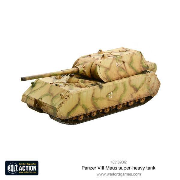 PANZER VII Maus - Tornillo ACCIÓN - Warlords Games - Resina - II Guerra Mundial
